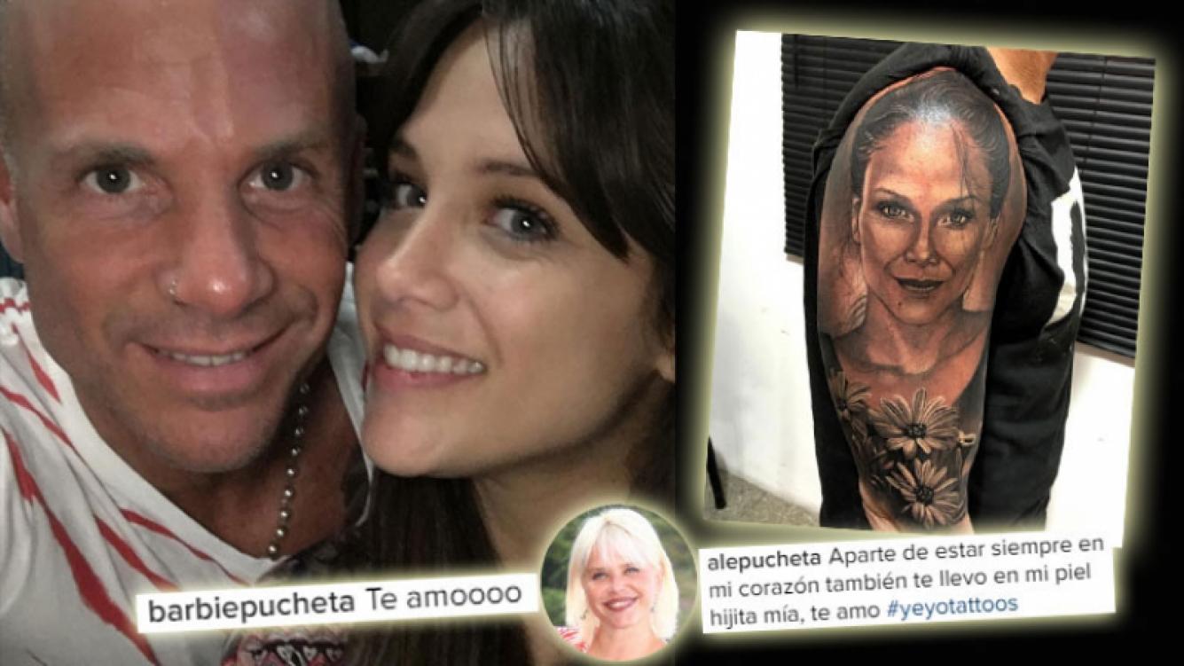 El gigantesco tatuaje del padre de Barbie Vélez. Foto: Instagram
