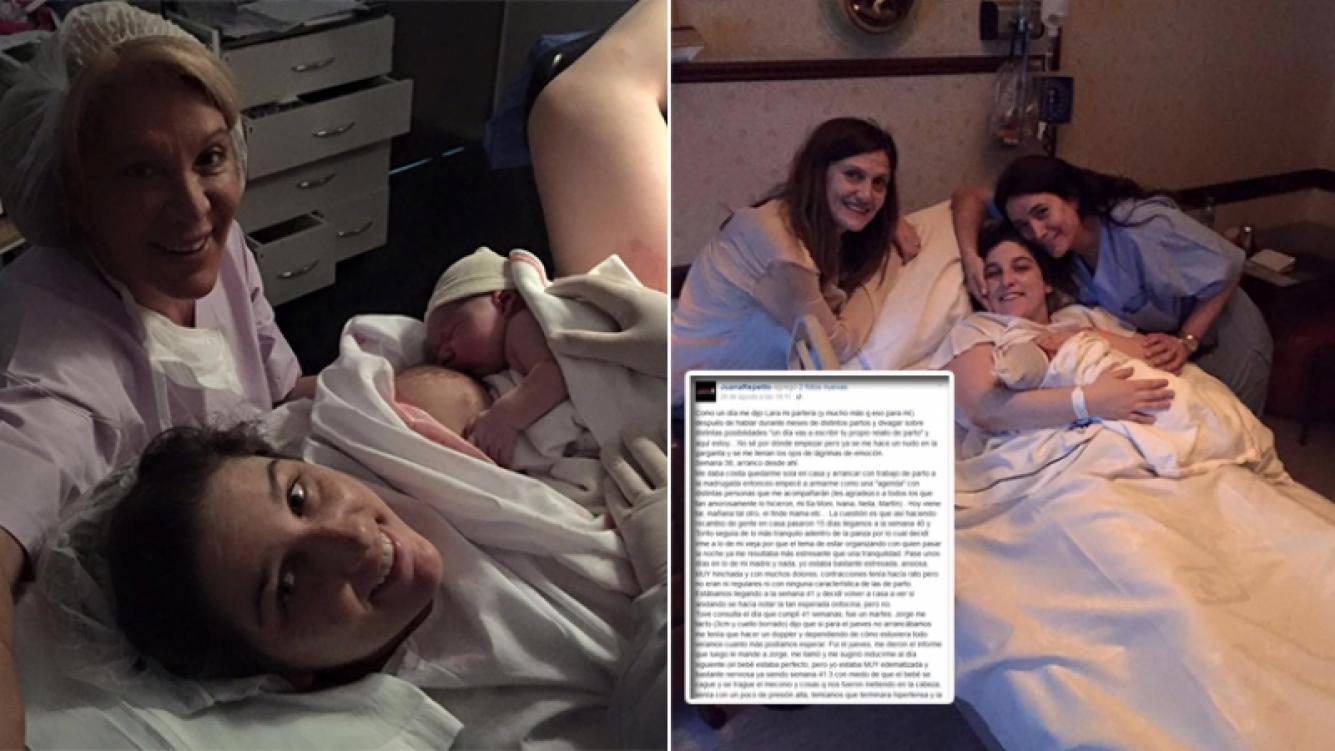 El detallado relato de Juana Repetto en Facebook sobre su parto.