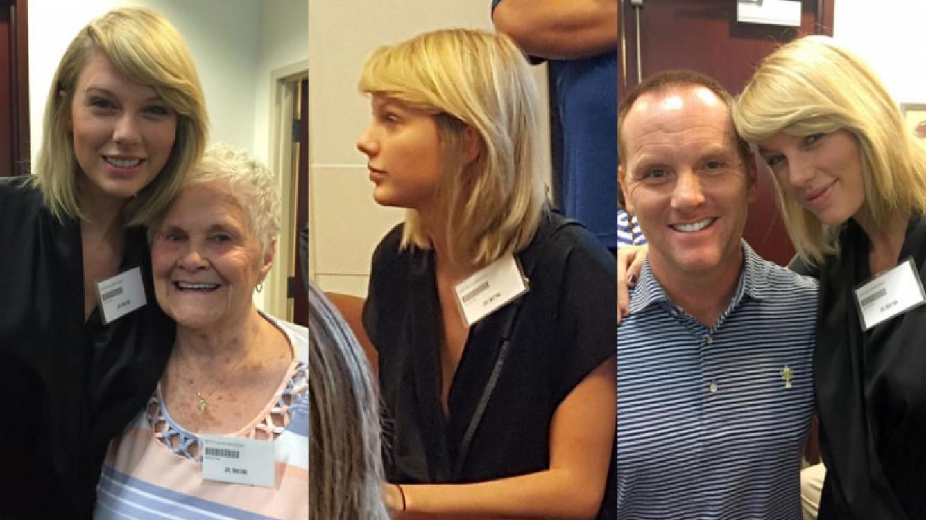 Taylor Swift revolucionó el Tribunal (Fotos: Twitter).