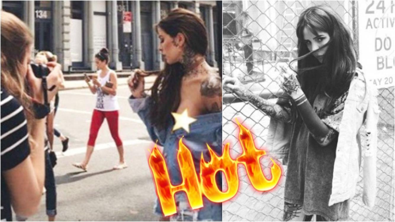 La foto hot de Candelaria Tinelli, en topless por Nueva York (Fotos: Instagram)