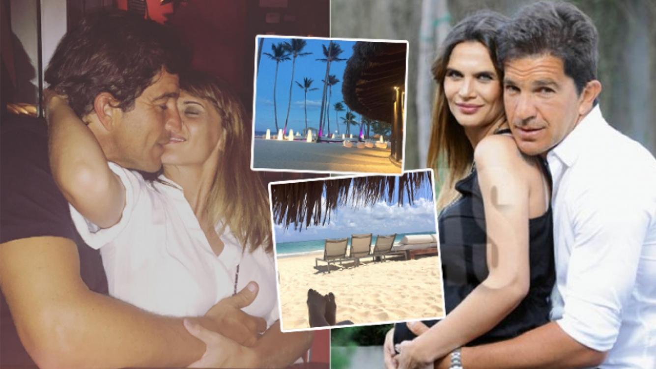 La pareja de Amalia Granata habló desde el Caribe donde están de vacaciones (Foto: Caras e Instagram)