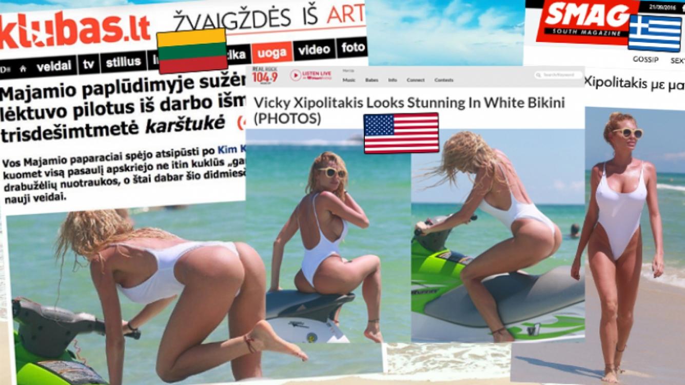 Vicky Xipolitakis, hot en Miami.