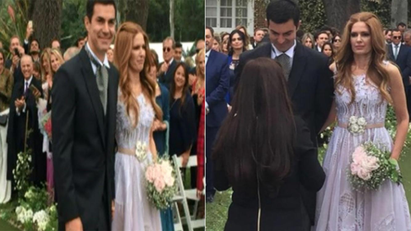 Se casaron Isabel Macedo y Juan Manuel Urtubey. Foto: C5N y Twitter.