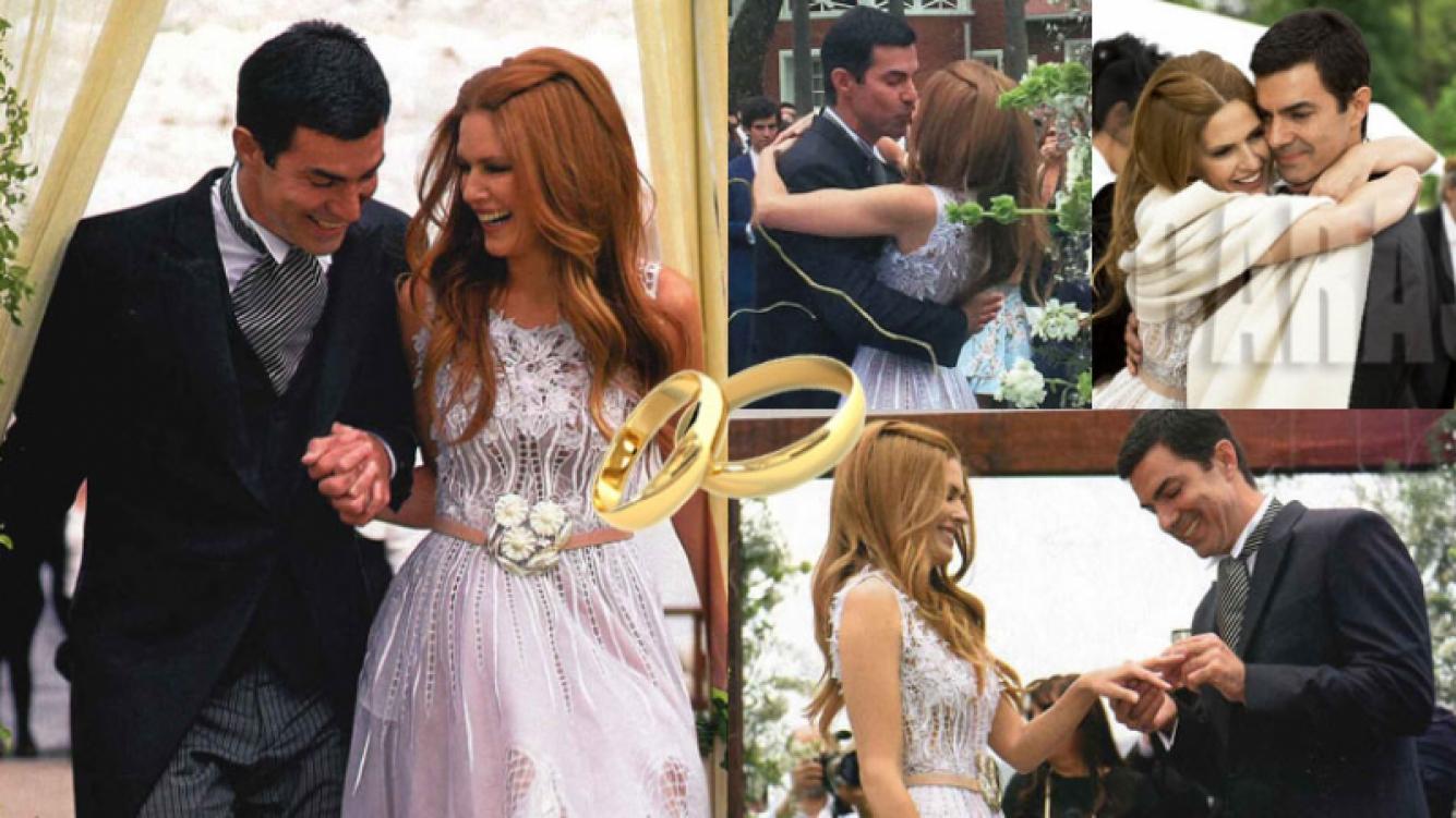 Isabel Macedo y Juan Manuel Urtubey, enamorados en su casamiento (Fotos: Gente y Caras).