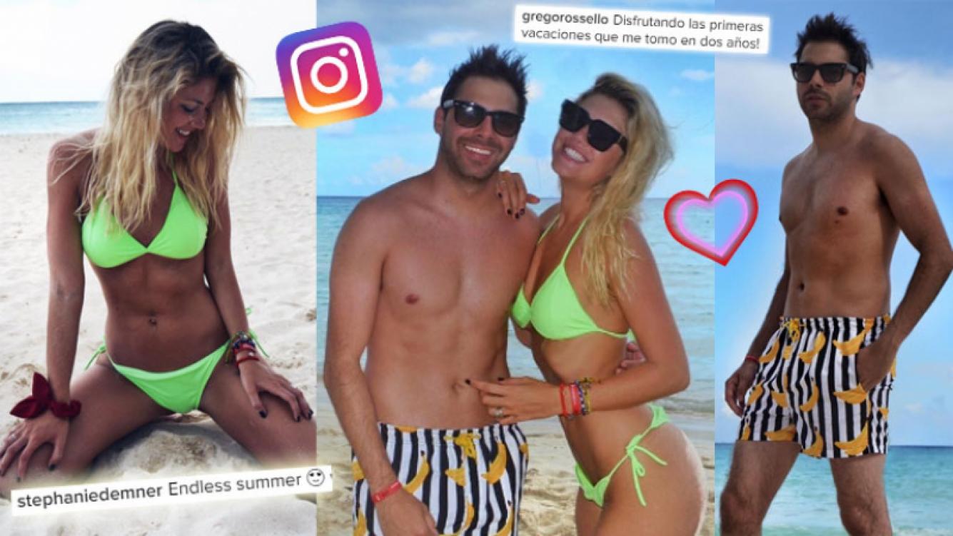 Las vacaciones de Grego Rossello, el instagramer furor, y Stephanie Demner en Playa del Carmen. (Foto: Instagram)