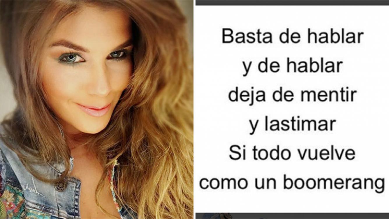 Loly Antoniale y un picante mensaje en momentos en que Rial le declaraba su amor a Agustina Kämpfer.