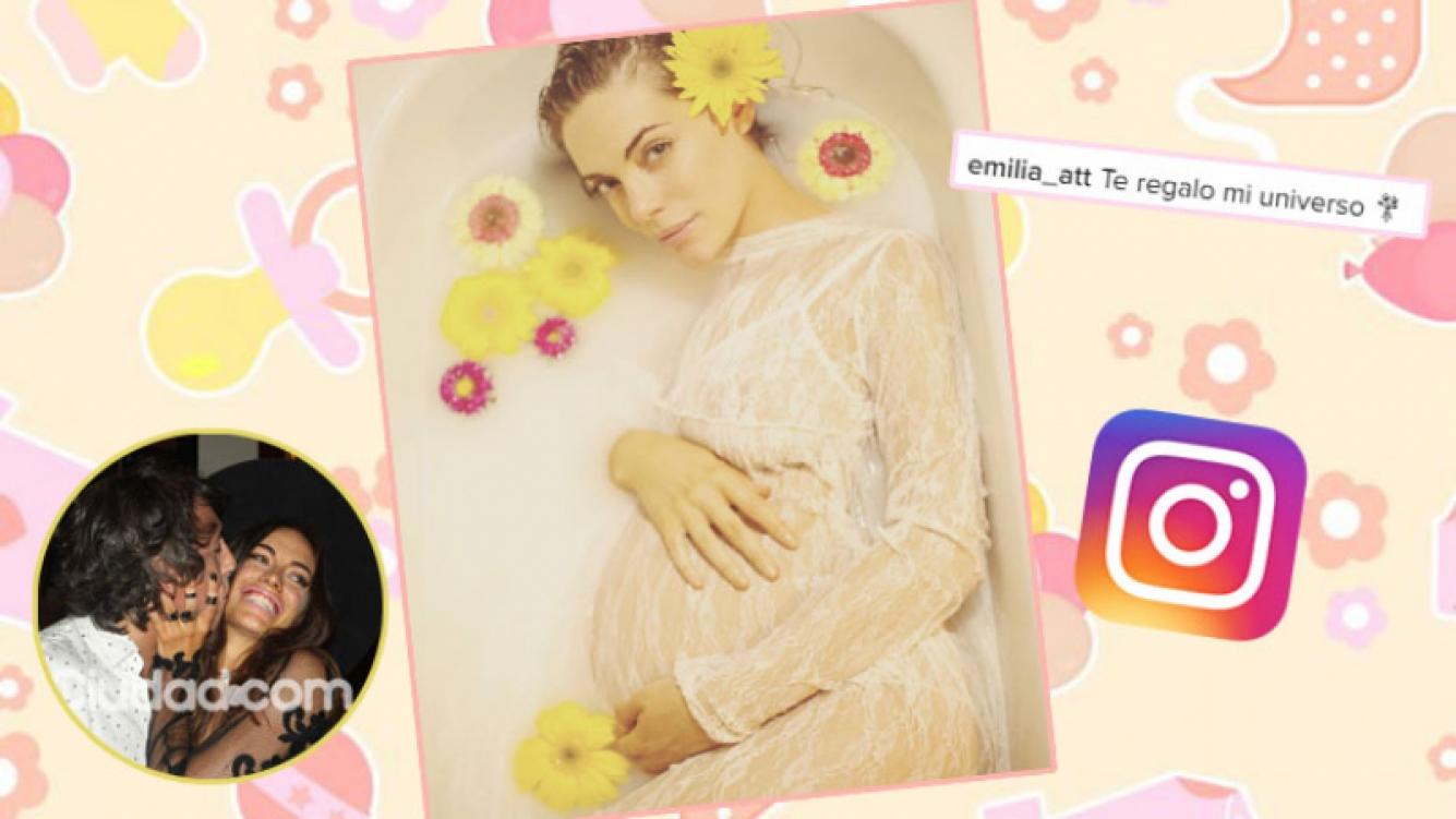 Emilia Attias, divina con su súper panza de nueve meses (Fotos: Instagram y Web).