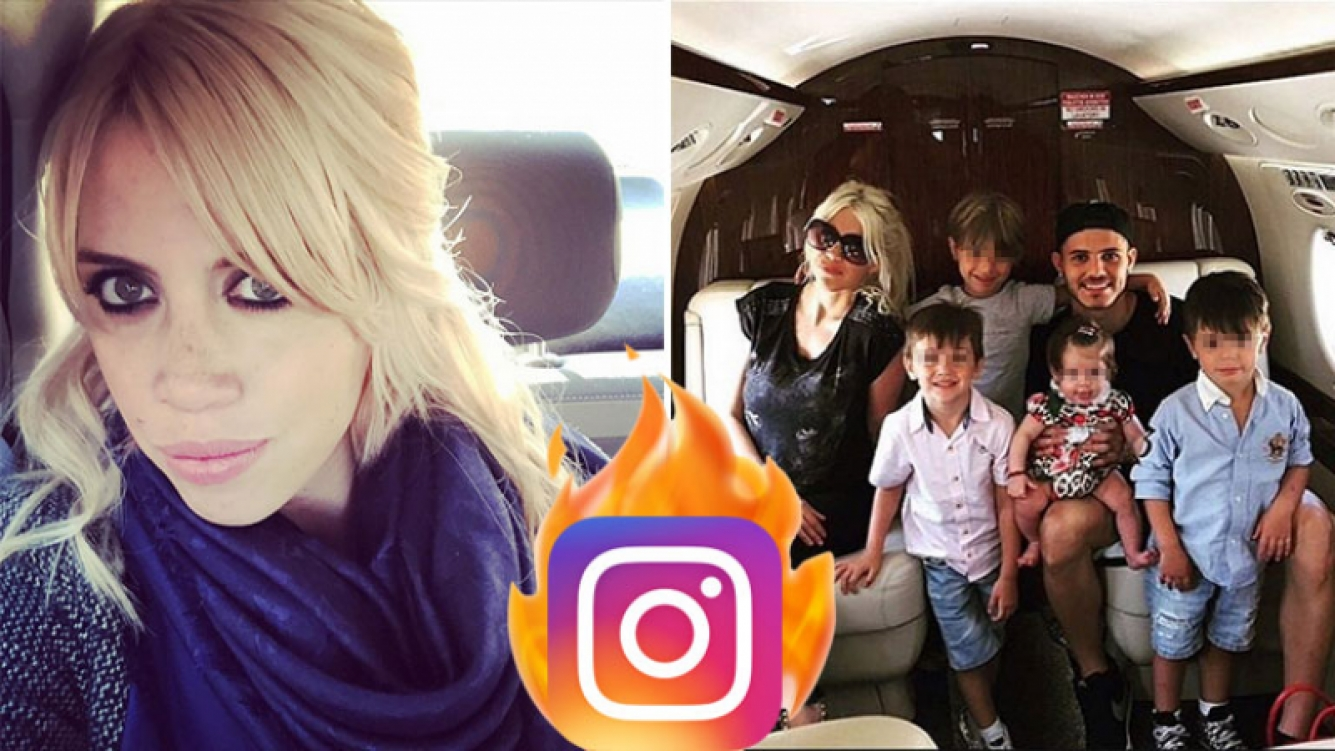 El palito de Wanda Nara contra los que hieren a su familia. (Foto: Instagram)