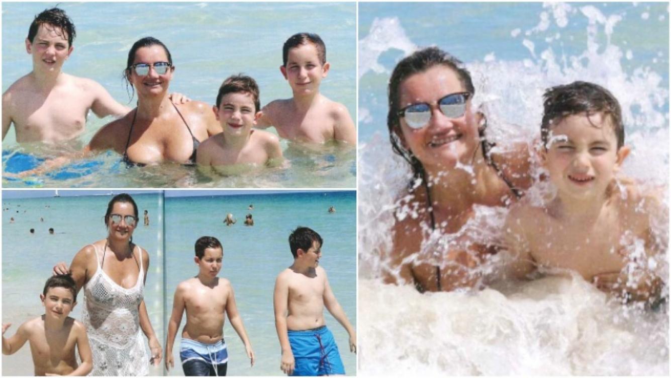 Las vacaciones de Nancy Pazos con sus 3 hijos en Miami (Fotos: revista Caras)