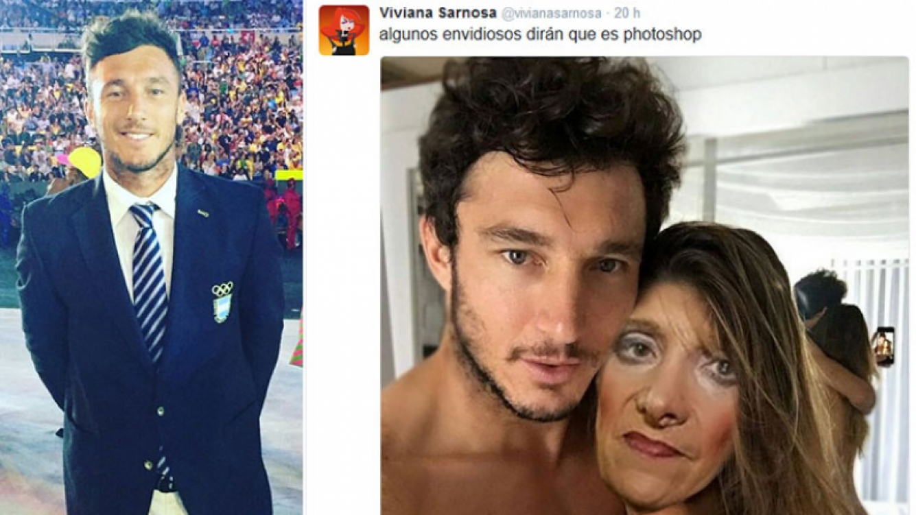 Pico Mónaco, irónico junto a Zulma Lobato por las falsas fotos desnudo junto a Pampita. Foto: Web