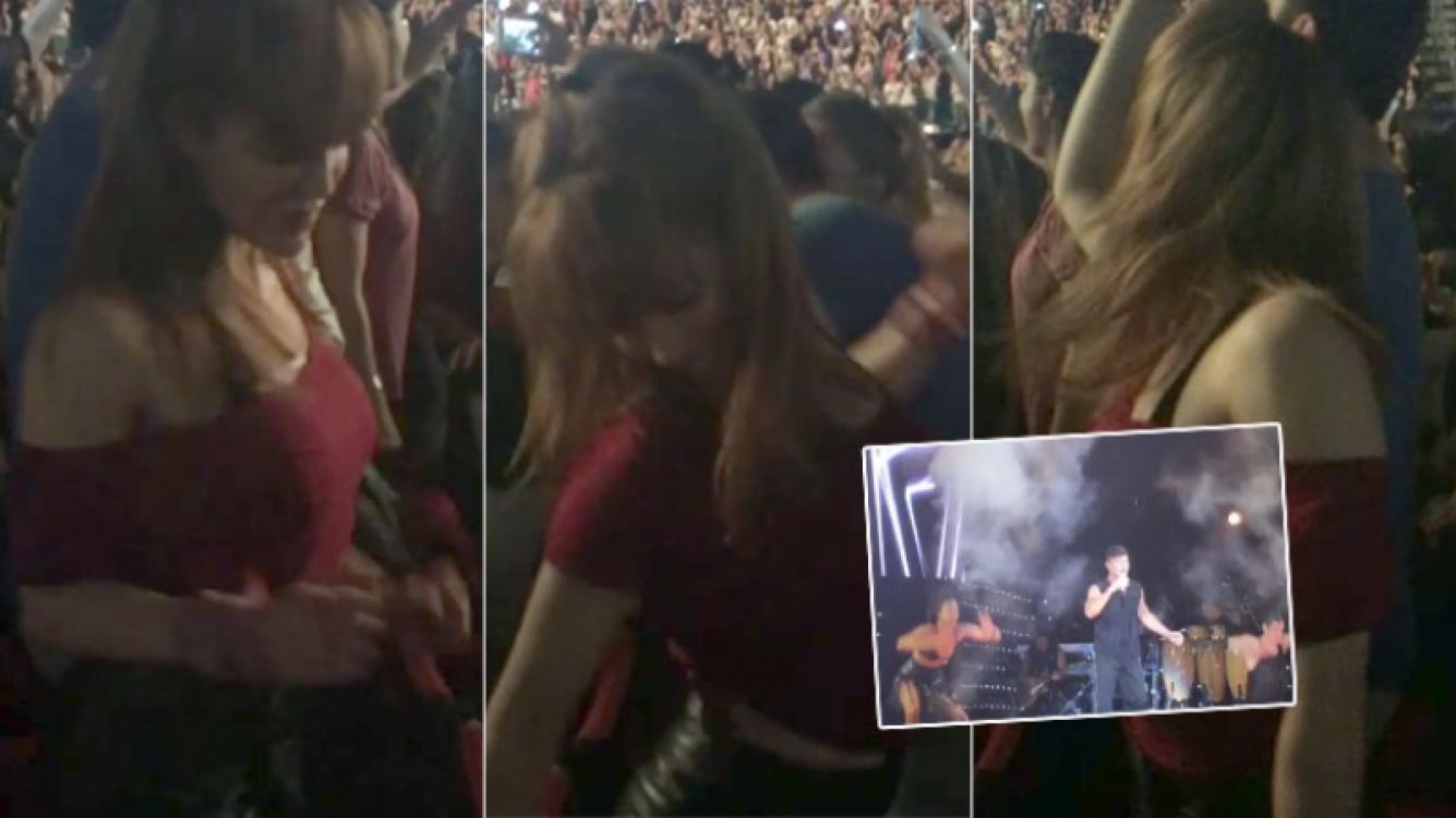 Miriam Lanzoni y un baile súper sexy en el recital de Ricky Martin (Foto: Instagram)