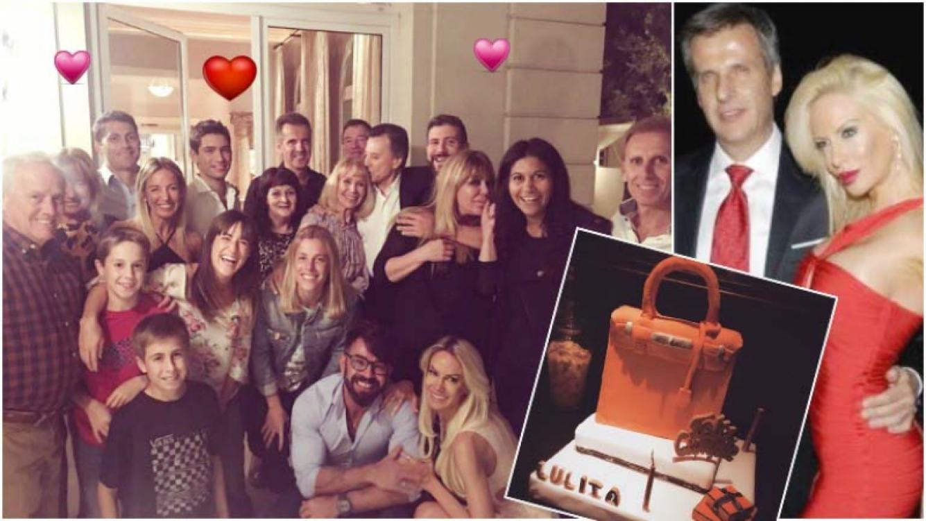 Martín Redrado le festejó el cumpleaños a Luciana Salazar (Fotos: Twitter y Web)
