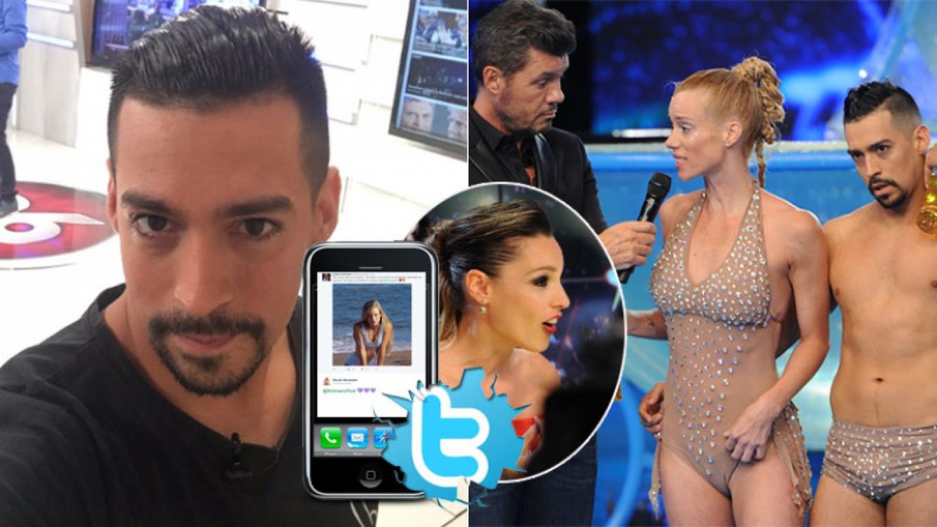 Jorgito Moliniers tras el escandaloso cruce de Nicole Neumann con la jurado del Bailando (Foto: web y Twitter)