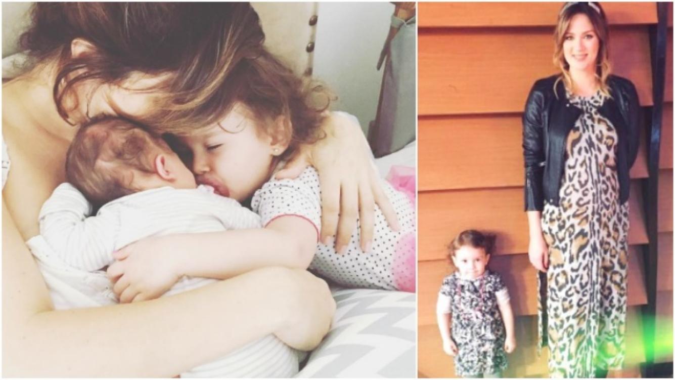 El divertido berrinche de Olivia a Paula Chaves mientras alimentaba a su hijo recién nacido (Fotos: Instagram)