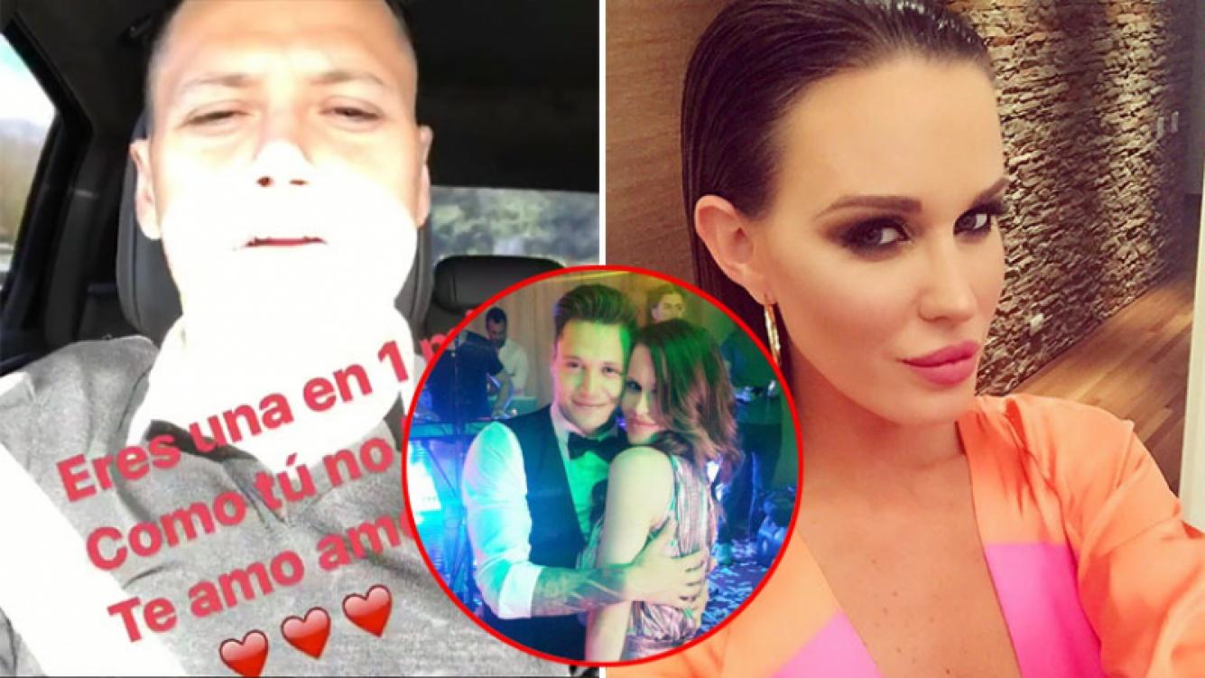 Mauro Zárate le dedicó una romántica canción a Natalie Weber. Foto: Instagram.