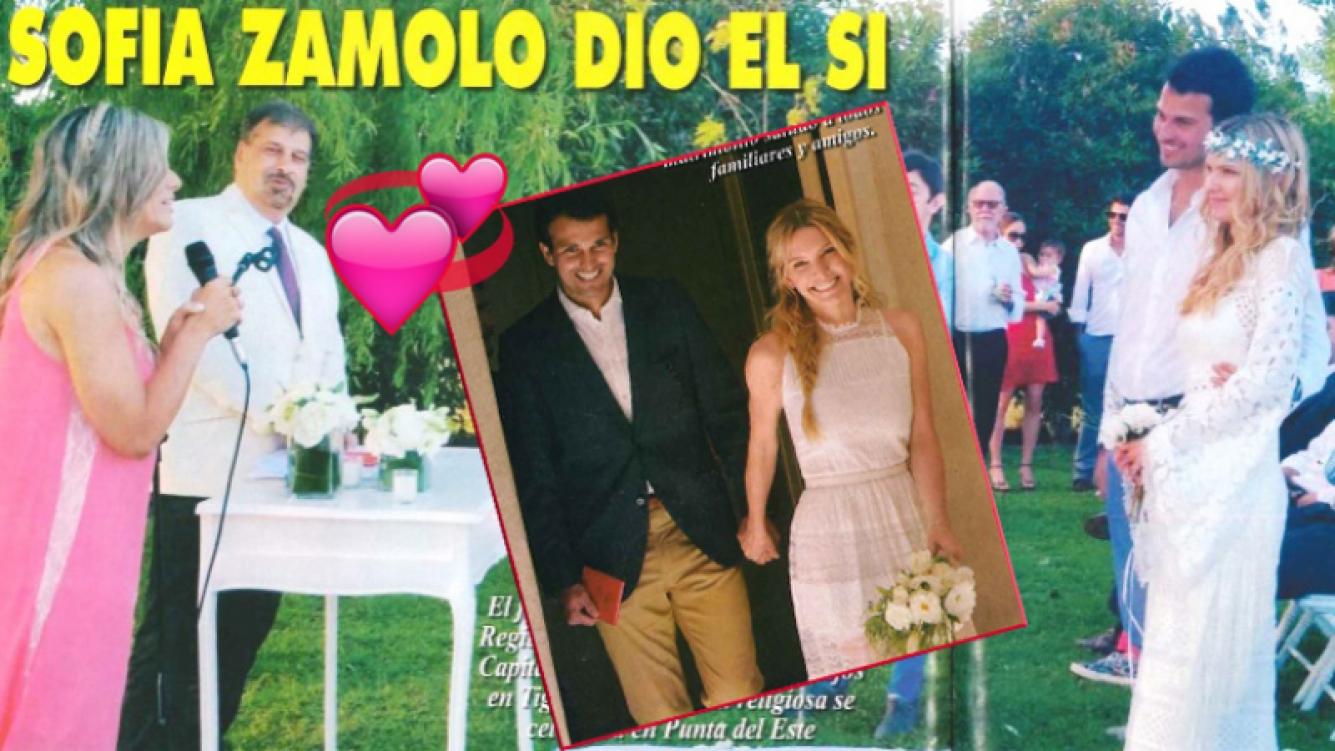 El festejo del casamiento de Sofía Zámolo con su novio, José Félix Uriburu (Foto: revista Pronto)