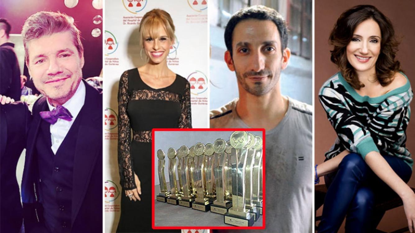 Marcelo Tinelli, Mariana Fabbiani, Juan Minujín y Jorgelina Aruzzi fueron algunos de los ganadores de los Premios Tato 2016. (Foto: Web)