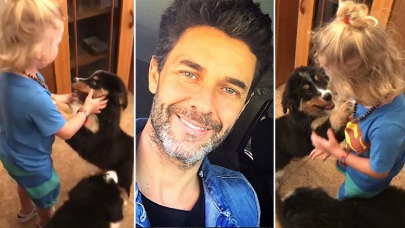El tierno video del hijo de Mariano Martínez cuando fue a buscar a su perrita (Foto: Instagram)