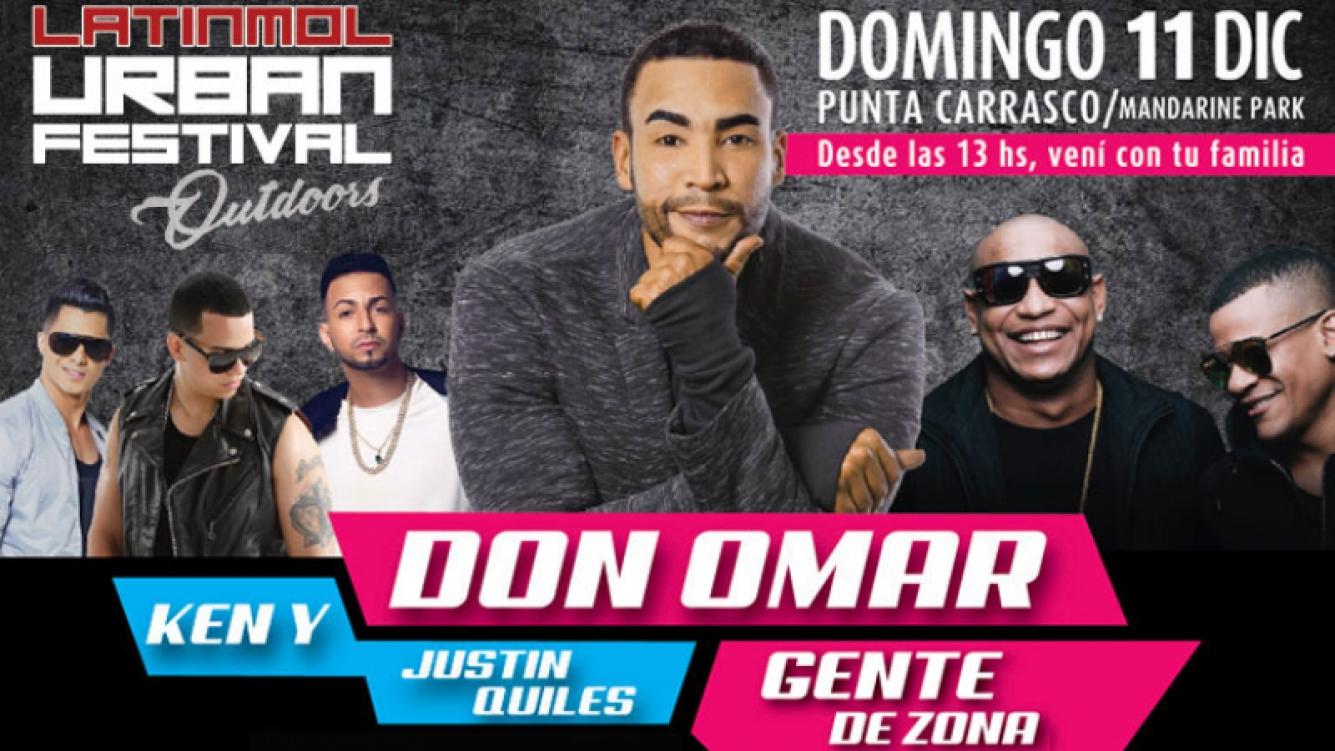 Llega el Latinmol Urban Festival con Don Omar, Gente de zona y muchos artista más, ¡y Ciudad.com te regala entradas!