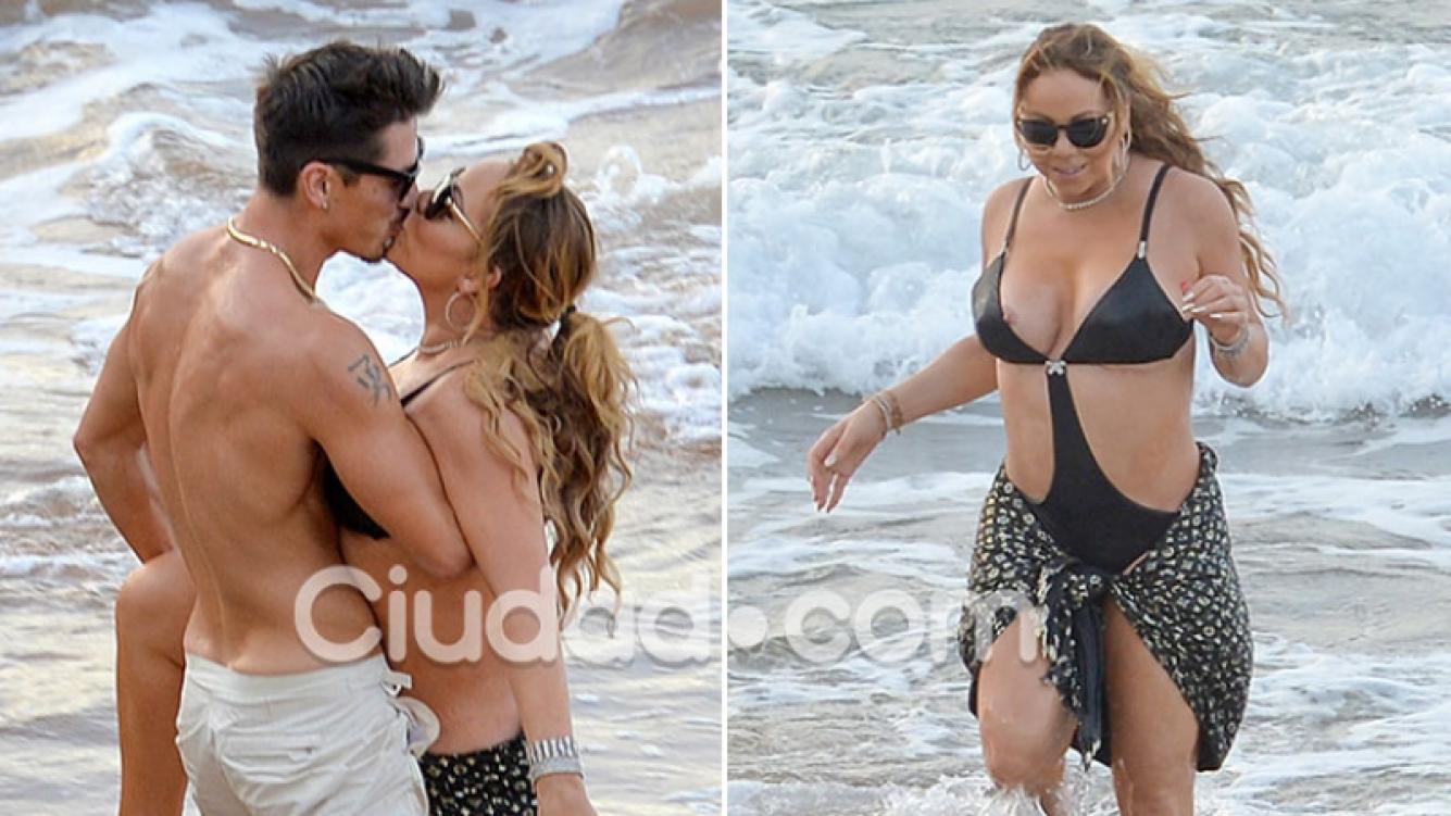 Mariah Carey, apasionada en el mar con un musculoso bailarín 13 años menor… y un blooper hot en pleno chapuzón. Foto: Grosby Group