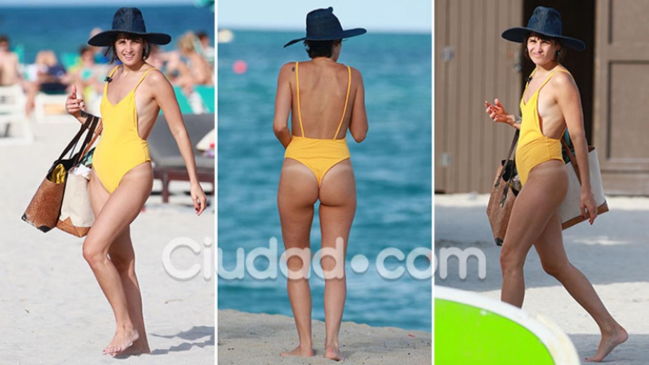 Florencia Torrente deslumbró con su lomazo en Miami. Fotos: Grosby Group.