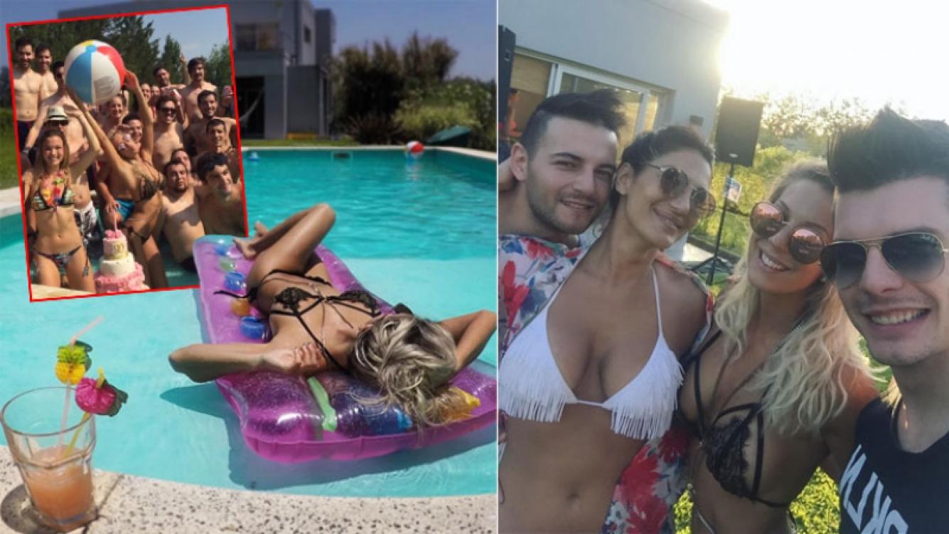 Noelia Marzol festejó su cumpleaños con una pool party: chapuzones, sol y lomazos. (Fotos: Instagram)