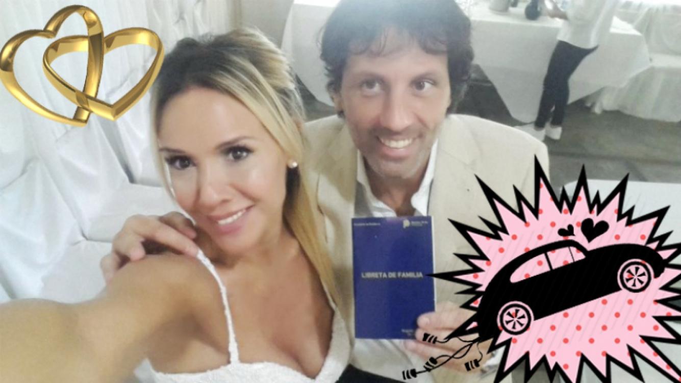 """¡Dieron el sí! Laura Miller se casó con un piloto de carrera: """"¡Nos casamos! El día más feliz de mi vida"""" Foto: Twitter"""