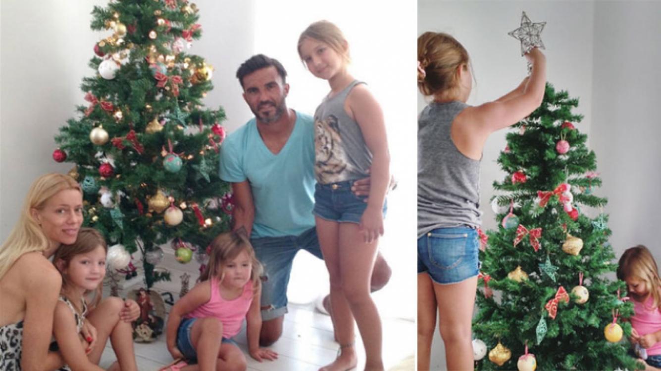 Fabián Cubero publicó una foto con Nicole Neumann y sus hijas (Foto: Instagram)