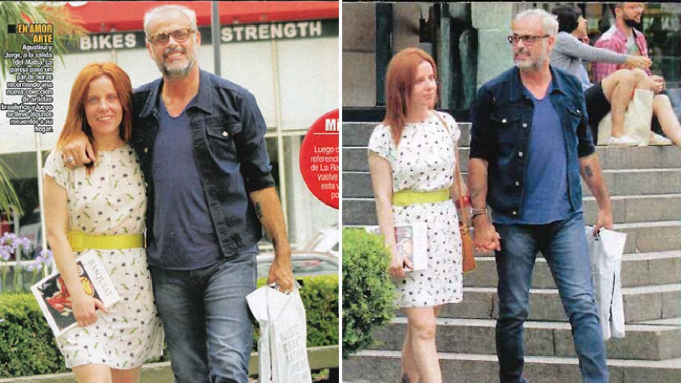 Agustina Kämpfer y Jorge Rial, dos enamorados del arte. Foto: revista Paparazzi.