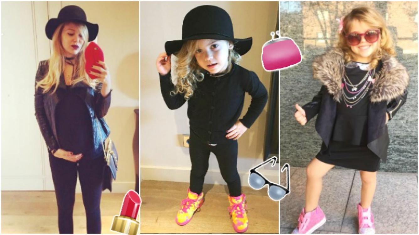 """El look """"fashionista"""" de Lola, la hija de Evangelina Anderson y Martín Demichelis (Fotos: Instagram)"""