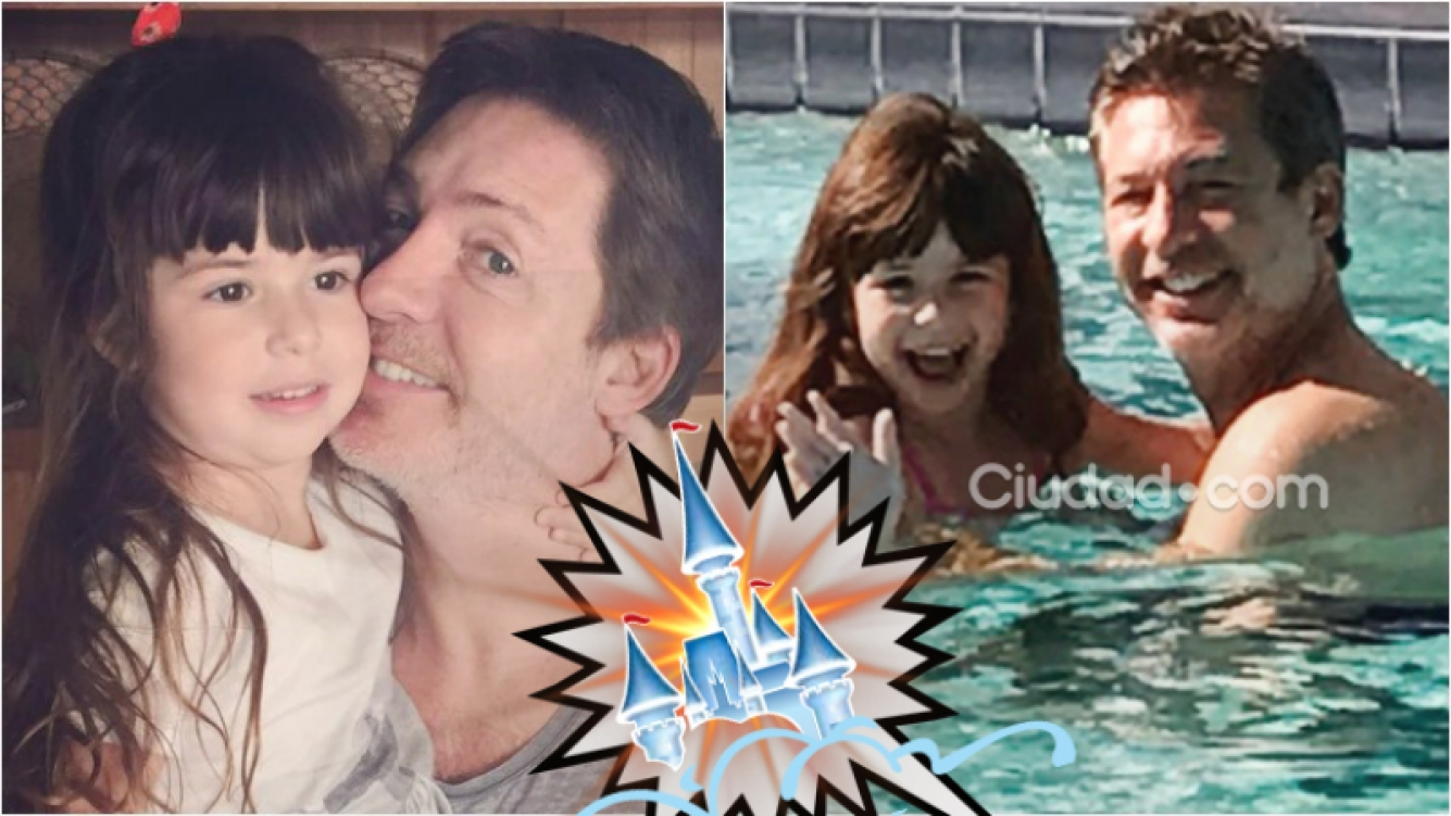 Las primeras vacaciones de Adrián Suar, tras su separación de Griselda Siciliani, junto a su hija Margarita en Disney. Foto: Ciudad.com/ Instagram