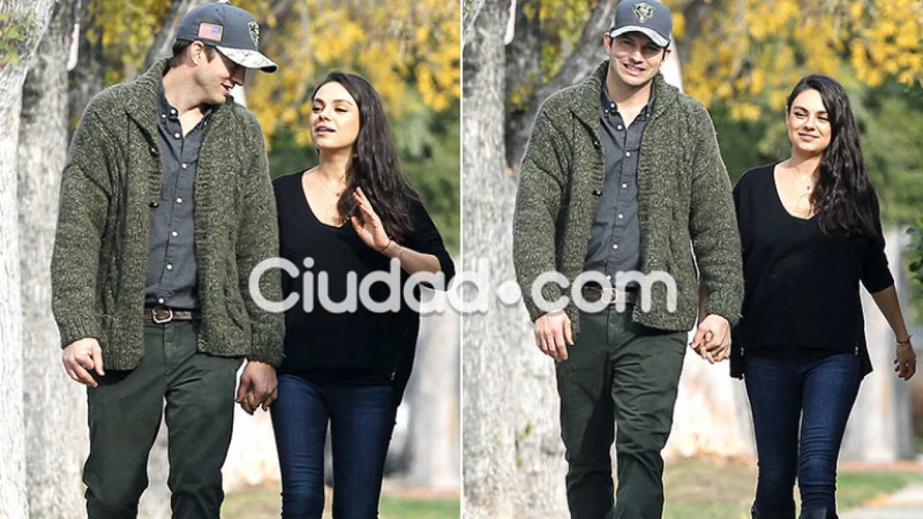 Las primeras fotos de Mila Kunis y Ashton Kutcher (Fotos: Grosby Group)
