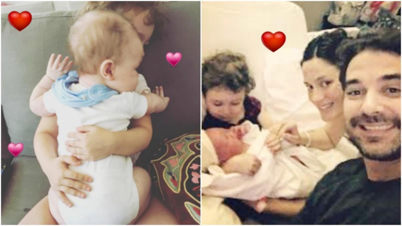 La tierna foto de Olivia y Baltazar Alfonso abrazados (Fotos: Instagram)