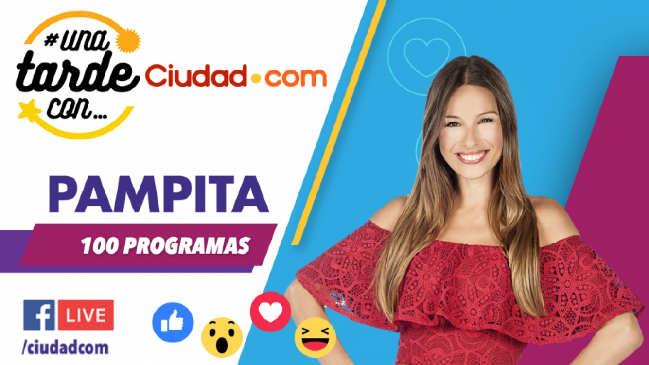 Pampita en #UnaTardeCon por Facebook Live.