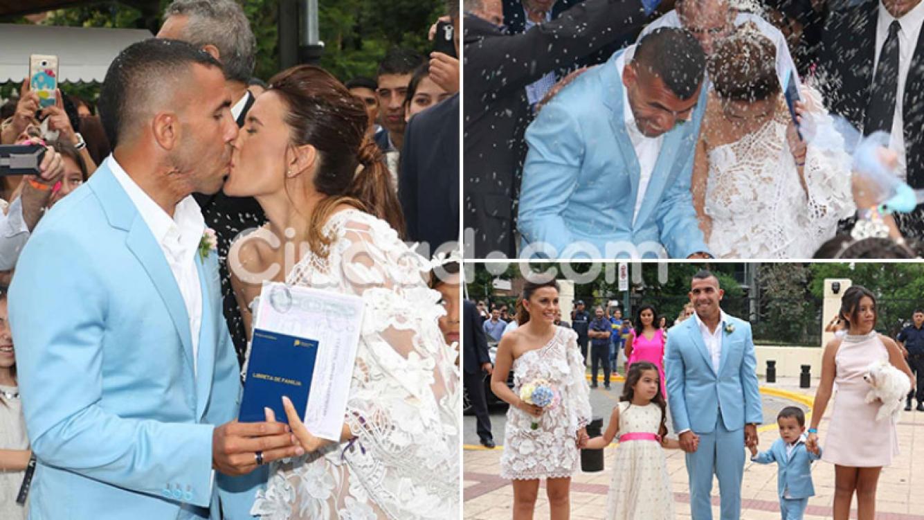 Se casó Carlos Tevez con Vanesa Mansilla, tras 19 años de amor. (Foto: Movilpress)