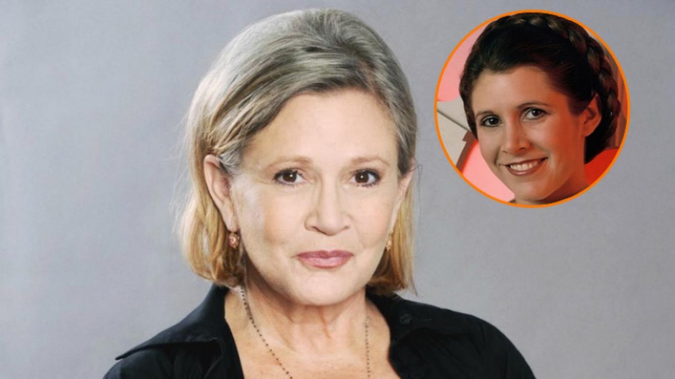 Carrie Fisher, la actriz de Star Wars, sufrió un ataque al corazón (Fotos: Web)