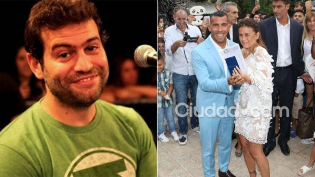 El chiste telefónico del imitador de Tevez al salón en Uruguay. (Fotos: Web y Ciudad.com)