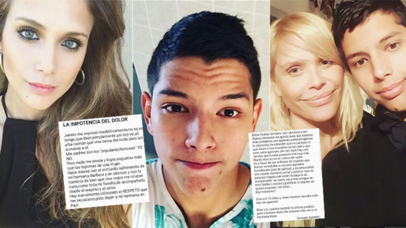 La carta del hijo mayor de Nazarena Vélez apoyando a Barbie tras la separación de Federico Bal (Foto: Instagram)