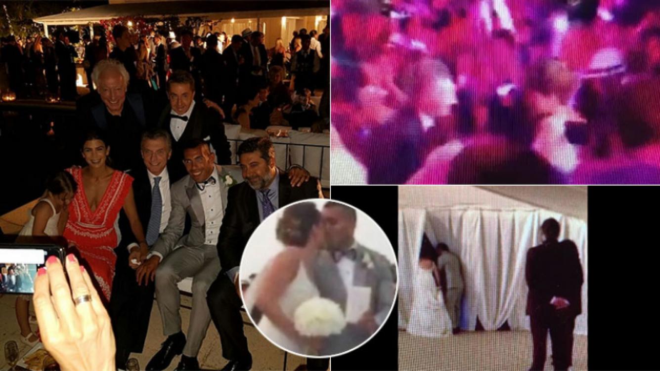 La insólita pregunta a Carlos Tevez en pleno casamiento
