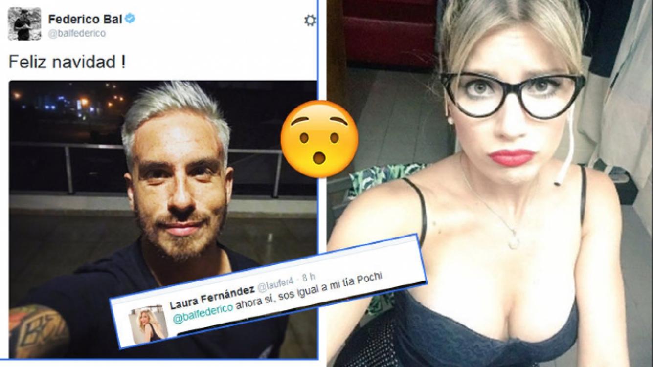 El radical cambio de look de Fede Bal y el comentario de Laurita Fernández. Fotos: Twitter y Web.