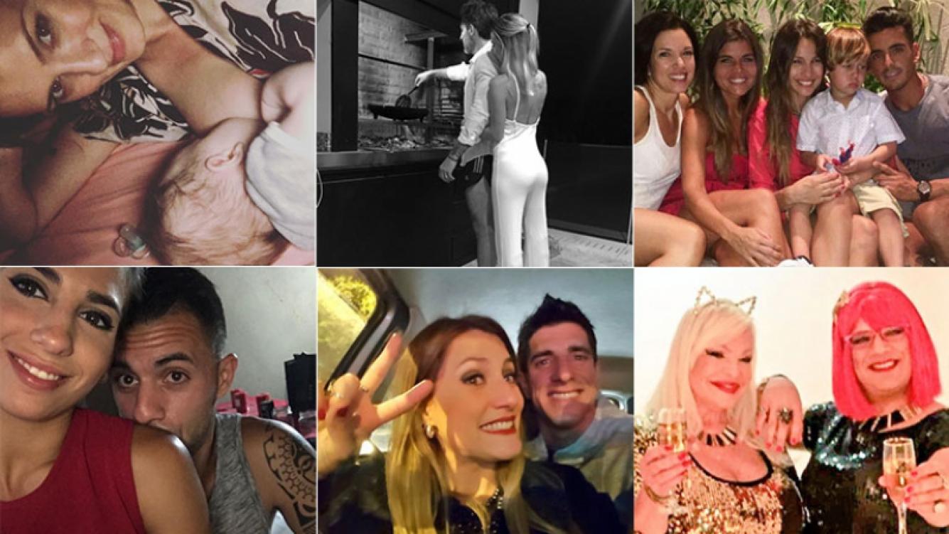 Así pasan la Navidad los famosos. Fotos: Twitter, Instagram y Facebook.
