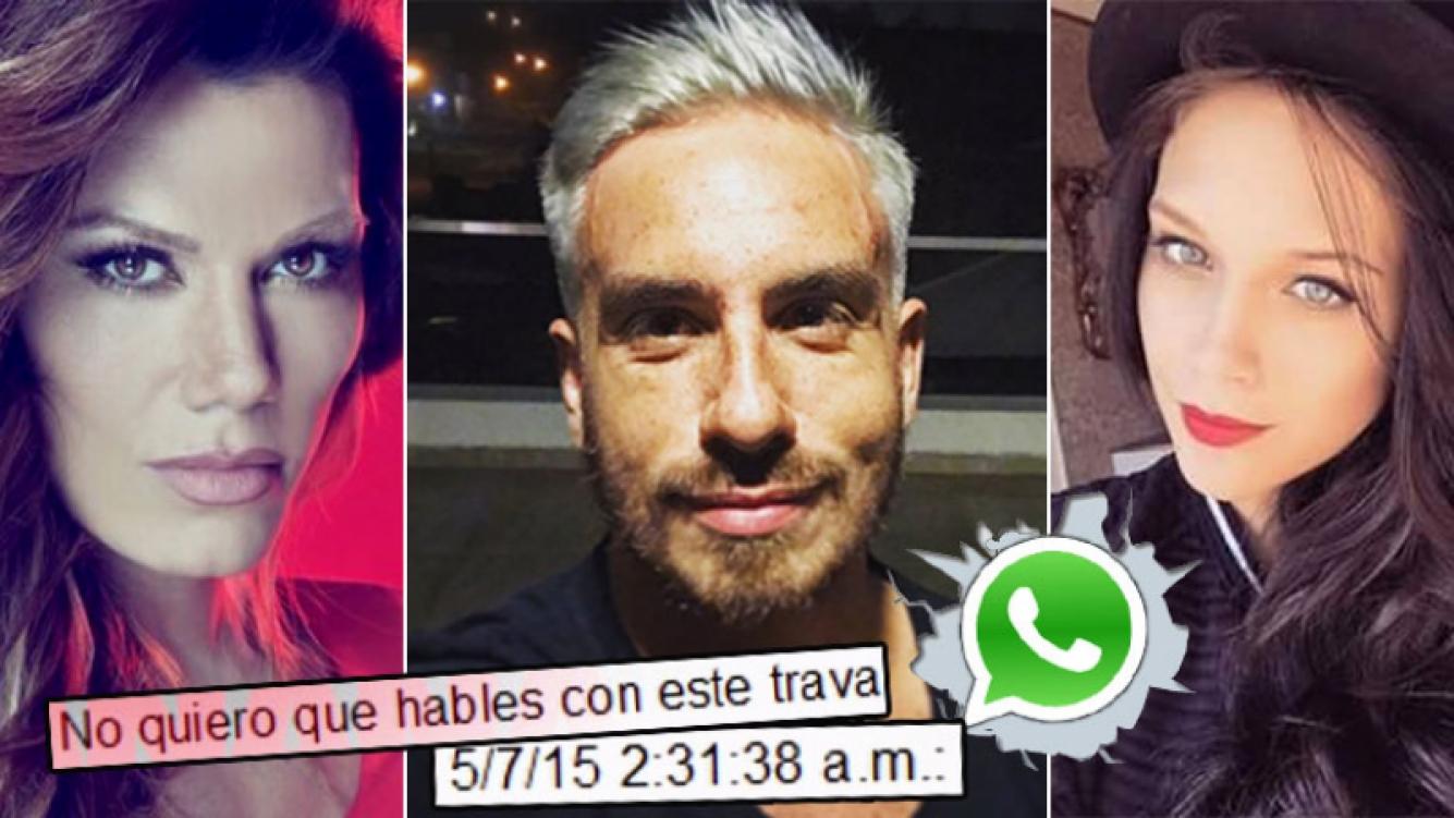 Fede Bal y el chat en el que Barbie Vélez tildaría de 'trava' a Flor de la Ve. (Foto: Web)