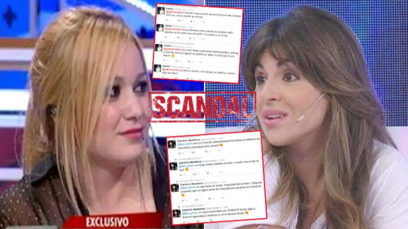 El picante ida y vuelta en Twitter de La Princesita Karina con Gianinna Maradona. Foto: Web