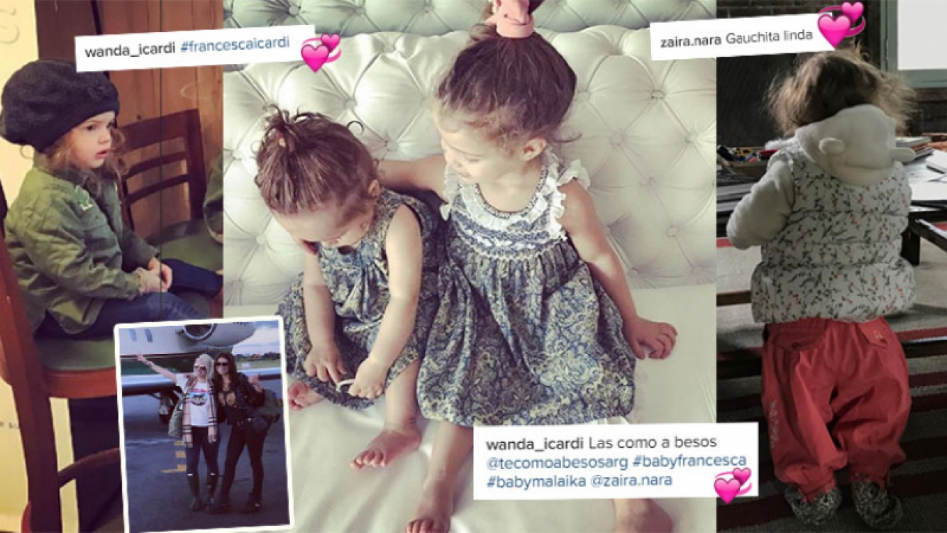 Las fotos súper tiernas de las hijas de Wanda y Zaira Nara (Foto: Instagram)