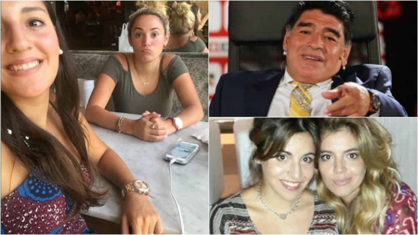 """Rocío Oliva con Jana Maradona, cómplices en Buenos Aires: """"Almorzando con Janita"""". Foto: Captura/ Web"""