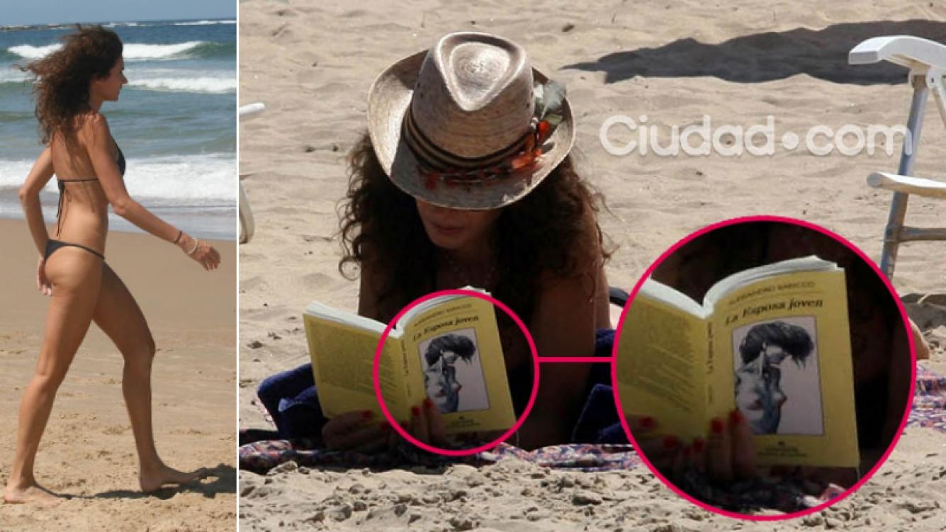 Florencia Raggi, una diosa dedicada a la lectura en sus vacaciones en Punta del Este. Foto: GM Press