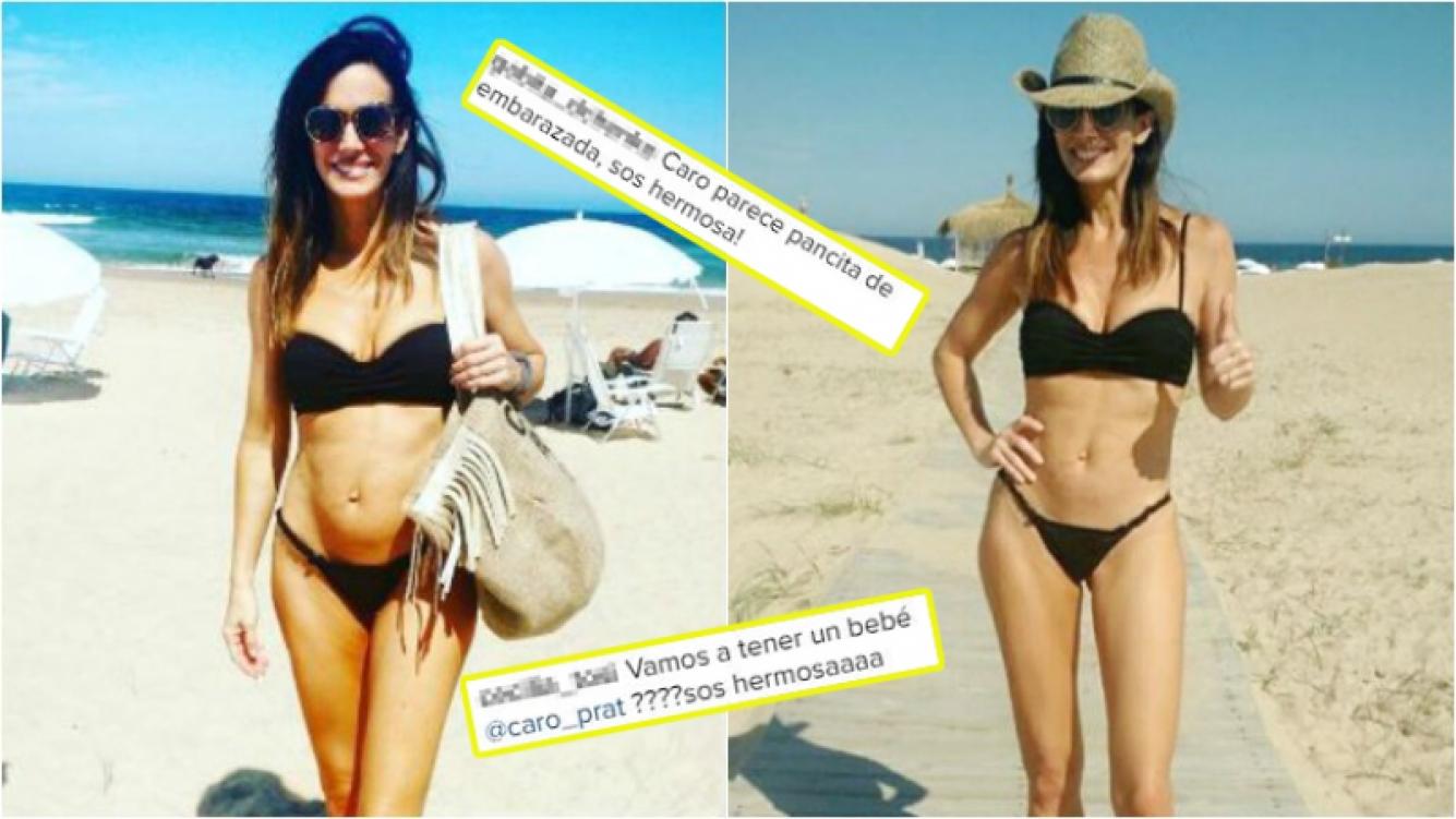 Carolina Prat subió una foto en bikini y le llovieron preguntas sobre si estaba embarazada. Foto: Instagram