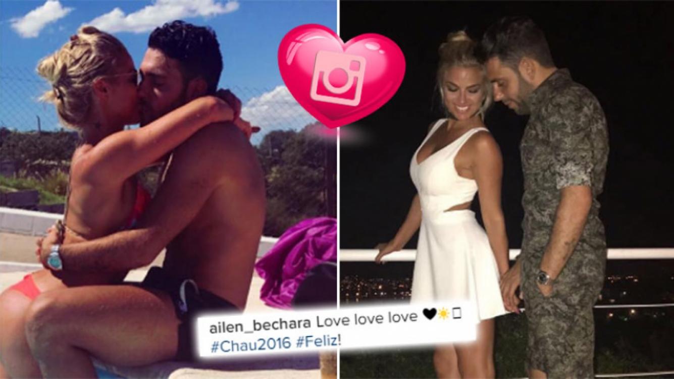 Ailén Bechara despidió el año a puro beso con su novio. (Foto: Instagram)
