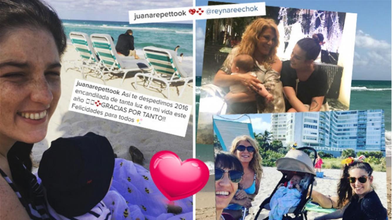 Las primeras vacaciones de Juana Repetto y su hijo, Toribio. (Foto: Instagram)