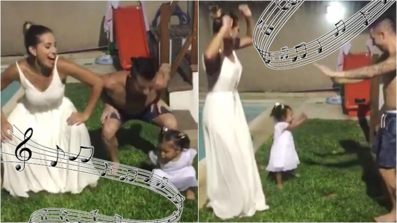 """Mirá el divertido baile de Fran, la hija de Cinthia Fernández: """"Mi negra cachenguera"""". Foto: Instagram"""